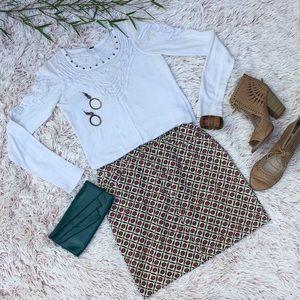 🏵Vintage 90s floral ESPRIT skirt